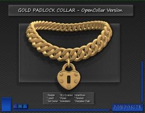 Padlock Collar - GOLD
